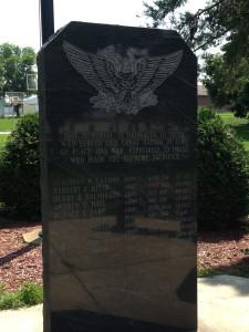Veterans Memorialized, KiA